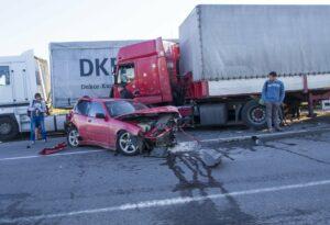 truck and car crash