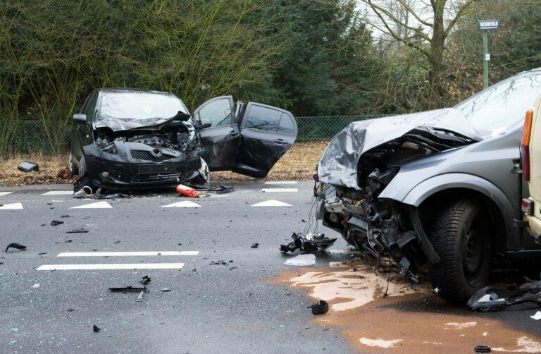 totaled cars crash