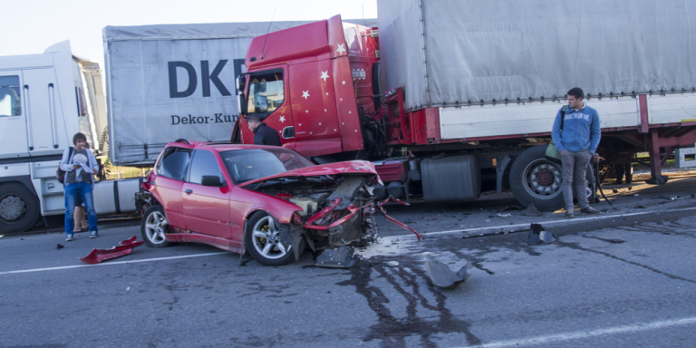 truck and car accident